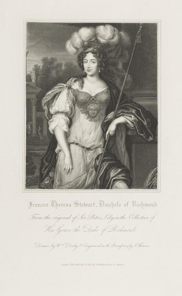 Frances Teresa Stuart, Duchess of Richmond and Lennox, 1648 - 1702. Mistress of Charles II (Published 1823)