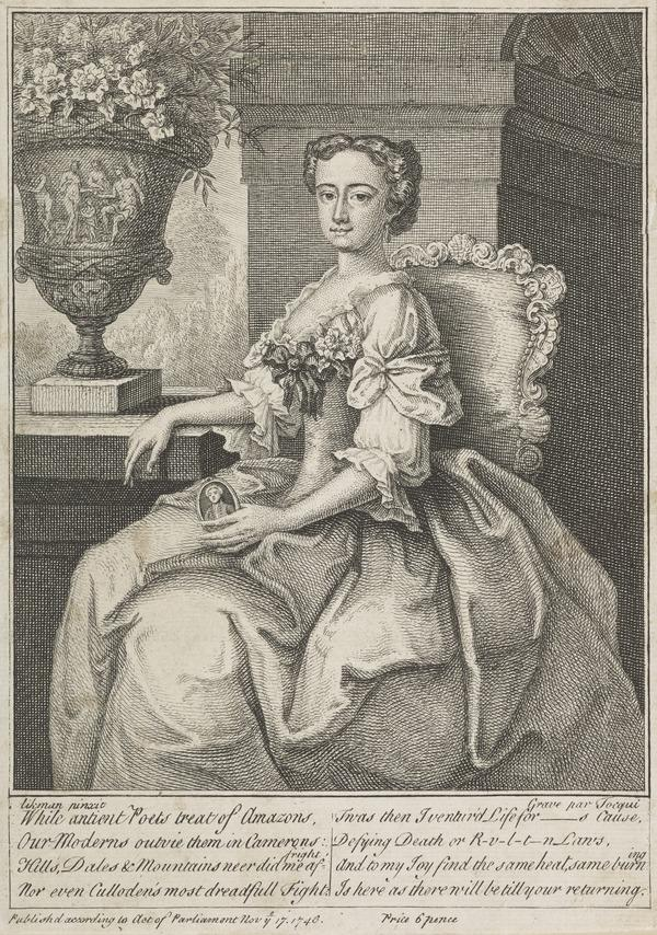 Jenny Cameron, c 1700 - 1790. Adventuress; supporter of Charles Edward Stuart (Published 1746)