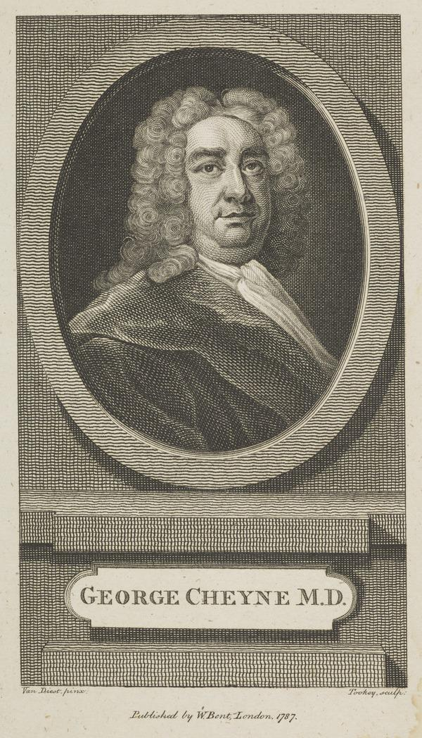 George Cheyne, 1671 - 1743. Physician (Dated 1787)
