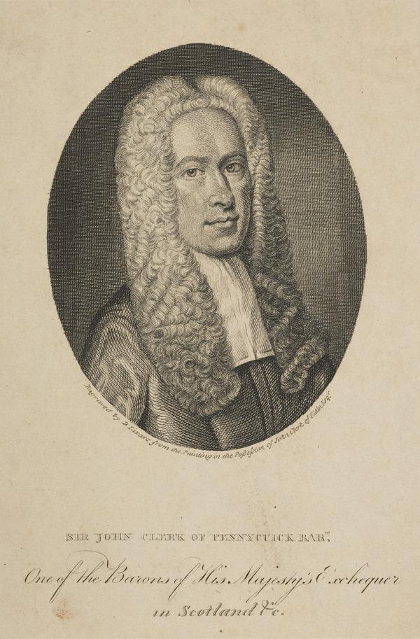 Sir John Clerk of Penicuik, 1676 - 1755. Judge of the Exchequer Court in Scotland (Published 1802)