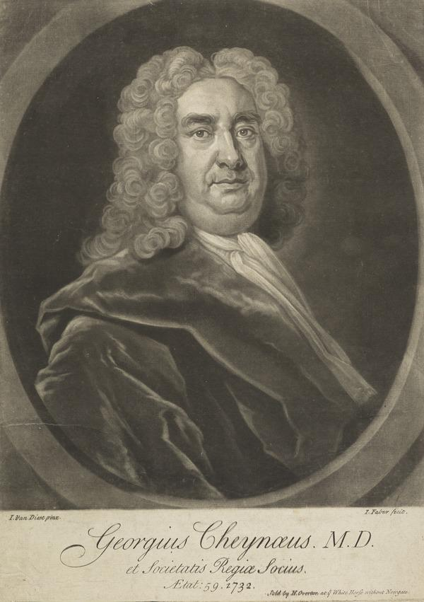 George Cheyne, 1671 - 1743. Physician (Dated 1732)