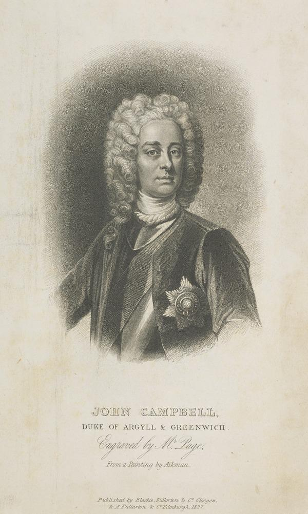 John Campbell, 2nd Duke of Argyll and Greenwich, 1678 - 1743. Soldier and statesman (Published 1827)