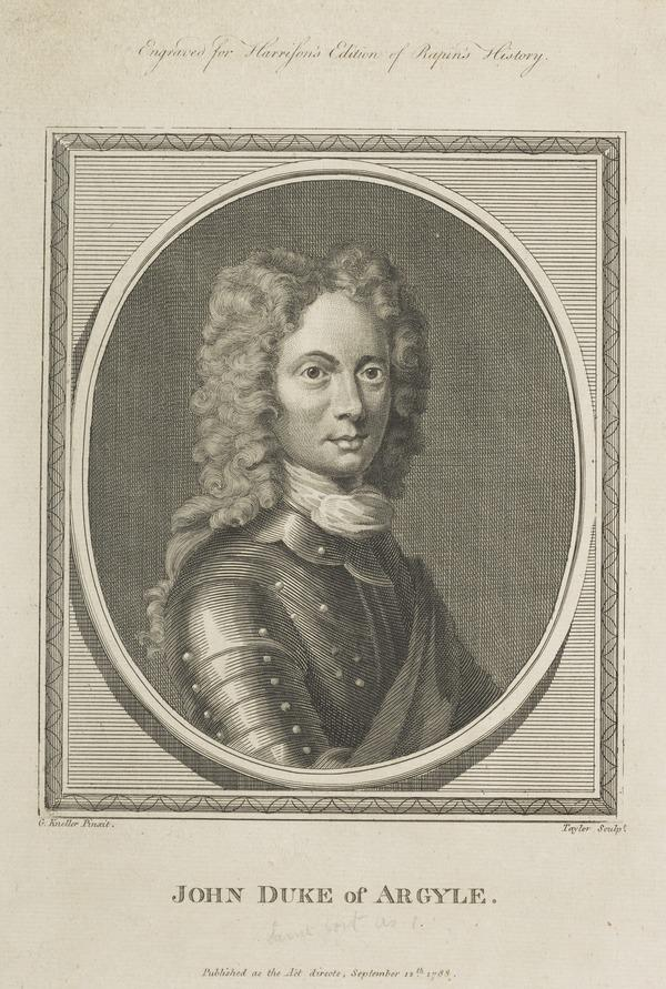 John Campbell, 2nd Duke of Argyll and Greenwich, 1678 - 1743. Soldier and statesman (Published 1788)
