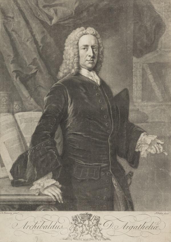 Archibald Campbell, 3rd Duke of Argyll, 1682 - 1761. Statesman (1744)