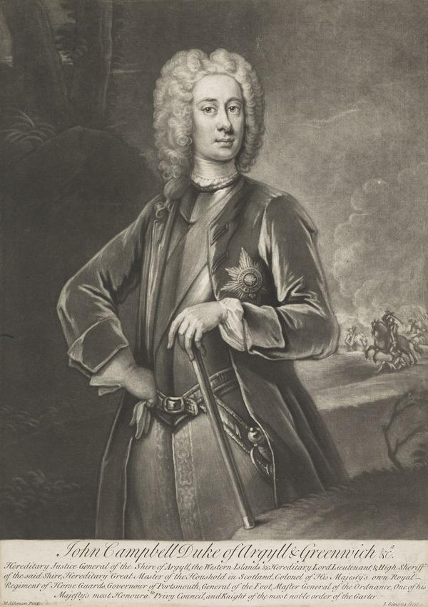 John Campbell, 2nd Duke of Argyll and Greenwich, 1678 - 1743. Soldier and statesman