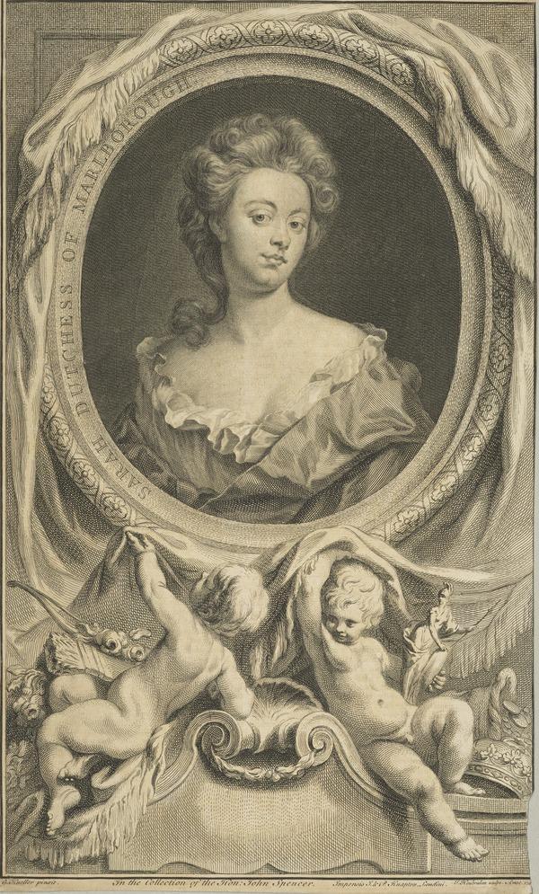 Sarah Jennings, Duchess of Marlborough, 1660 - 1744. Wife of John Churchill, 1st Duke of Marlborough (1745)