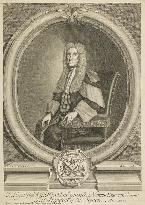 Sir Hew Dalrymple, 1652 - 1737. Lord President and politician (1732)