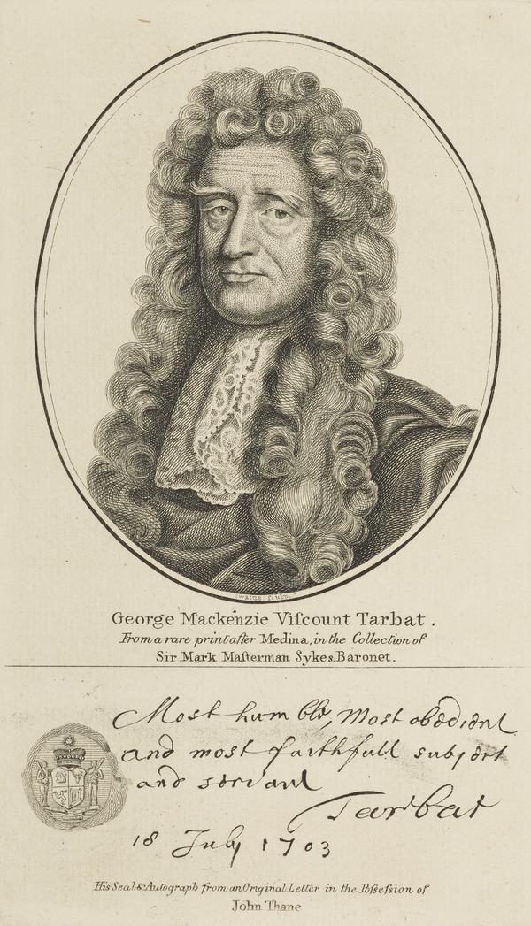 George Mackenzie, 1st Earl of Cromartie, 1630 - 1714. Statesman