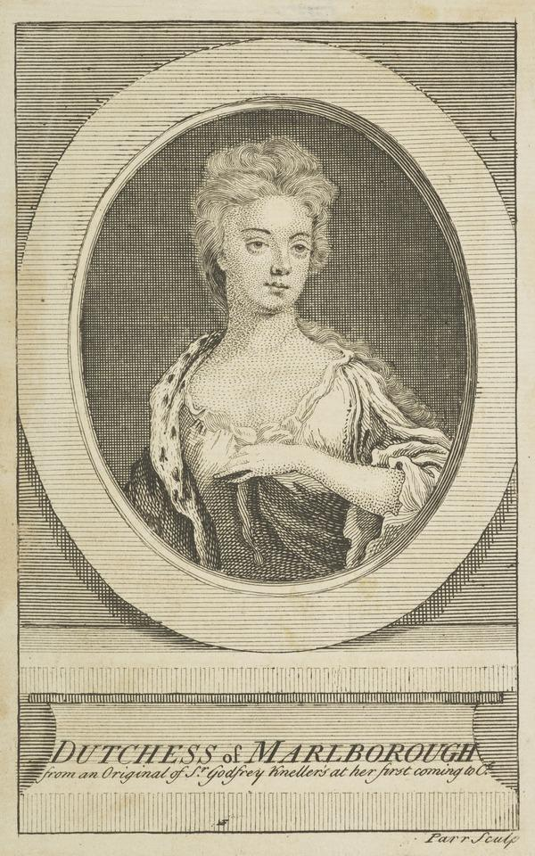 Sarah Jennings, Duchess of Marlborough, 1660 - 1744. Wife of John Churchill, 1st Duke of Marlborough