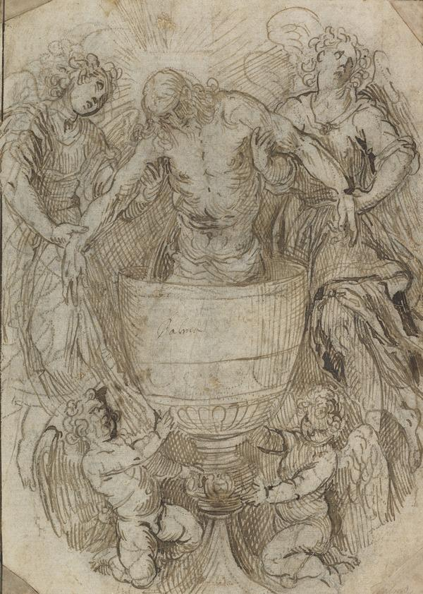 Christ Standing in a Chalice Supported by Angels