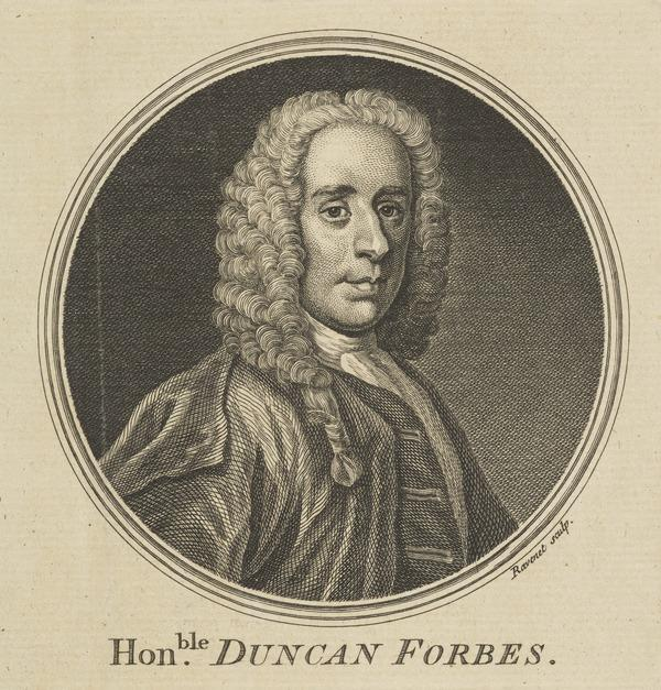 Duncan Forbes of Culloden, 1685 - 1747. Lord President of the Court of Session (1757)
