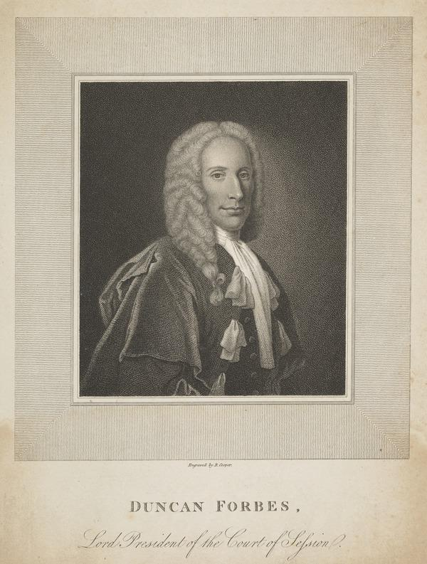 Duncan Forbes of Culloden, 1685 - 1747. Lord President of the Court of Session (Published 1815 ?)
