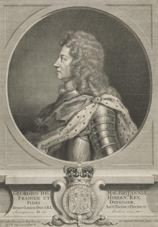 George I, 1660 - 1727. Reigned 1714 - 1727