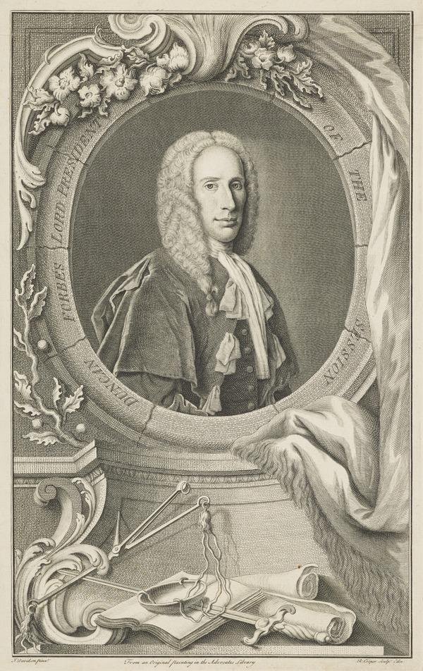 Duncan Forbes of Culloden, 1685 - 1747. Lord President of the Court of Session