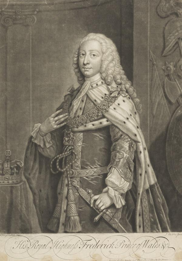 Frederick Lewis, Prince of Wales, 1707 - 1751. Eldest son of George II; father of George III