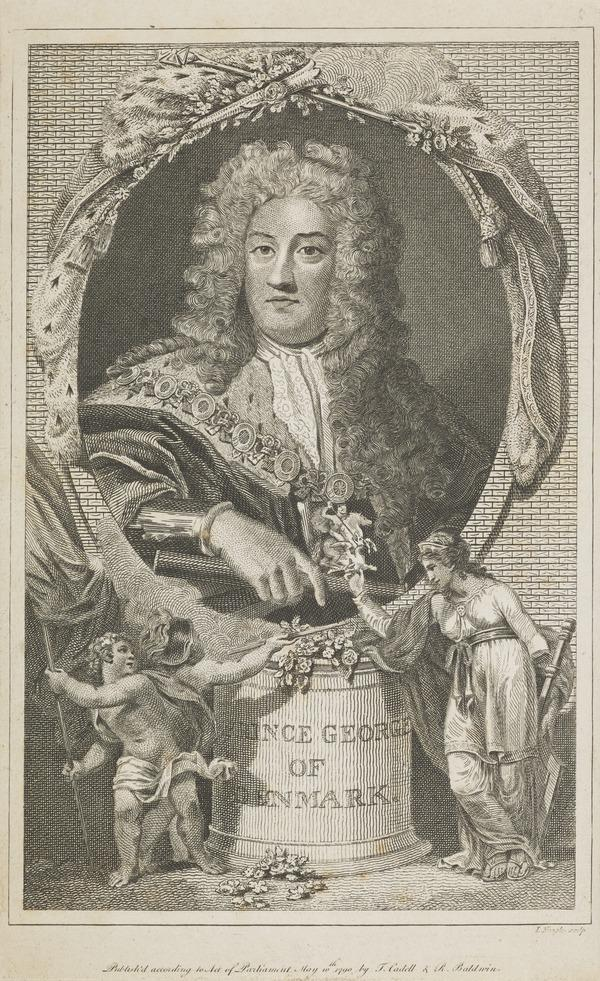 George, Prince of Denmark, 1653 - 1708. Consort of Queen Anne (Published 1790)