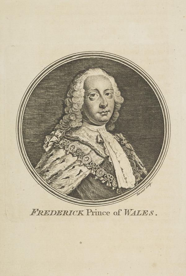 Frederick Lewis, Prince of Wales, 1707 - 1751. Eldest son of George II; father of George III (1757)