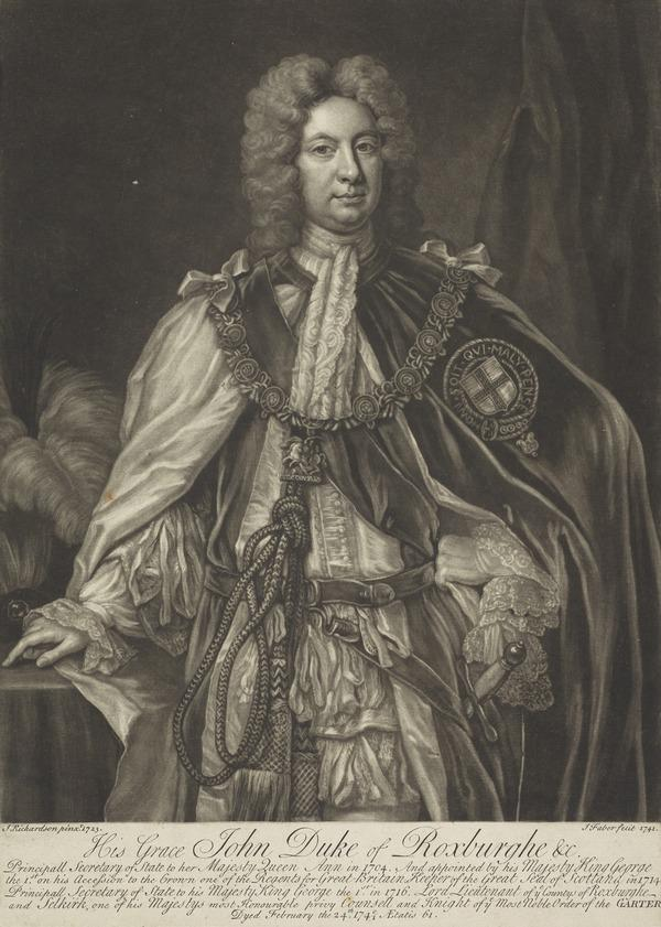 John Ker, 5th Earl and 1st Duke of Roxburghe, c 1680 - 1741. Statesman (1741)