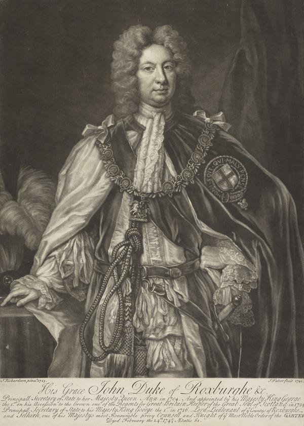 John Ker, 5th Earl and 1st Duke of Roxburghe, c 1680 - 1741. Statesman