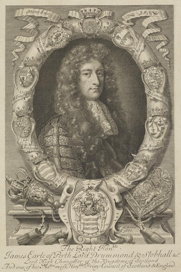 James Drummond, 1st Titular Duke of Perth, 1648 - 1716. Lord Chancellor of Scotland (1686)