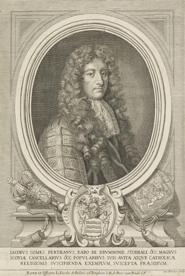 James Drummond, 1st Titular Duke of Perth, 1648 - 1716. Lord Chancellor of Scotland