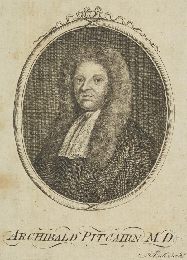 Dr Archibald Pitcairne, 1652 - 1713. Physician and poet