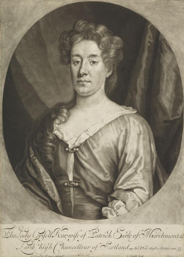 Grisell Ker, Countess of Marchmont, 1653 - 1703. Wife of the 1st Earl of Marchmont