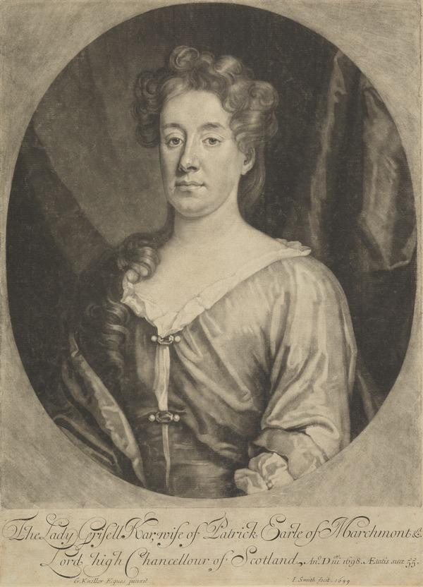 Grisell Ker, Countess of Marchmont, 1653 - 1703. Wife of the 1st Earl of Marchmont (1699)