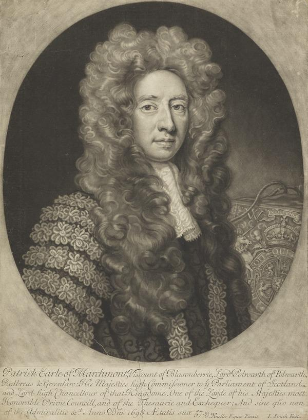 Sir Patrick Hume, 1st Earl of Marchmont, 1641 - 1724. Statesman (1698)