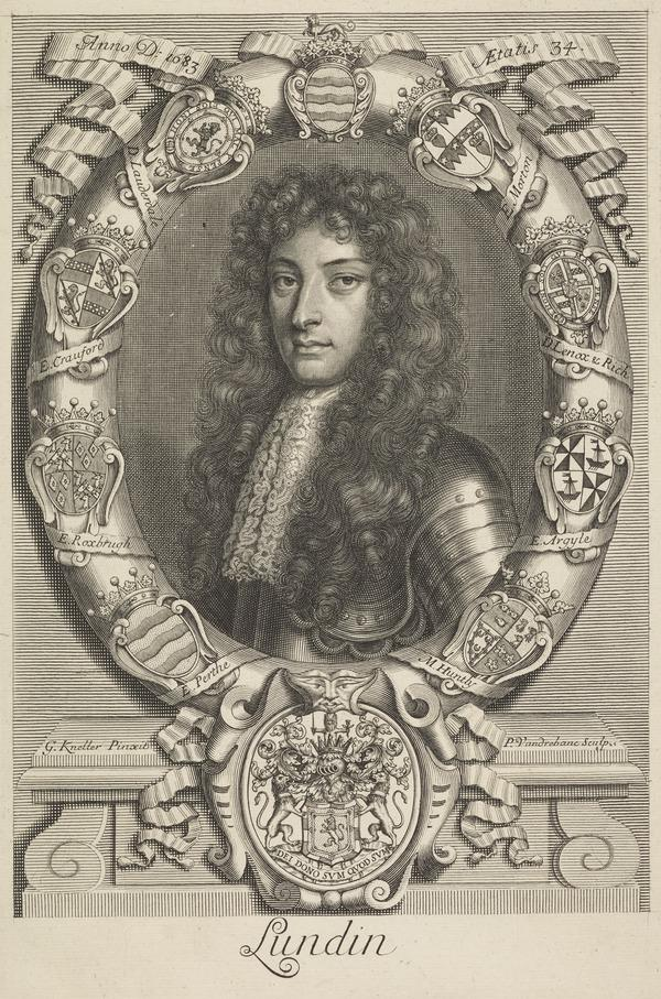 John Drummond, 1st Earl of Melfort, 1649 - 1714. Secretary of State for Scotland and Jacobite