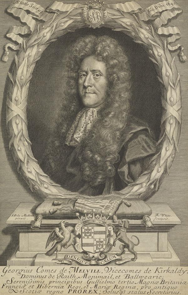 George Melville, 1st Earl of Melville, 1636 - 1707. Statesman