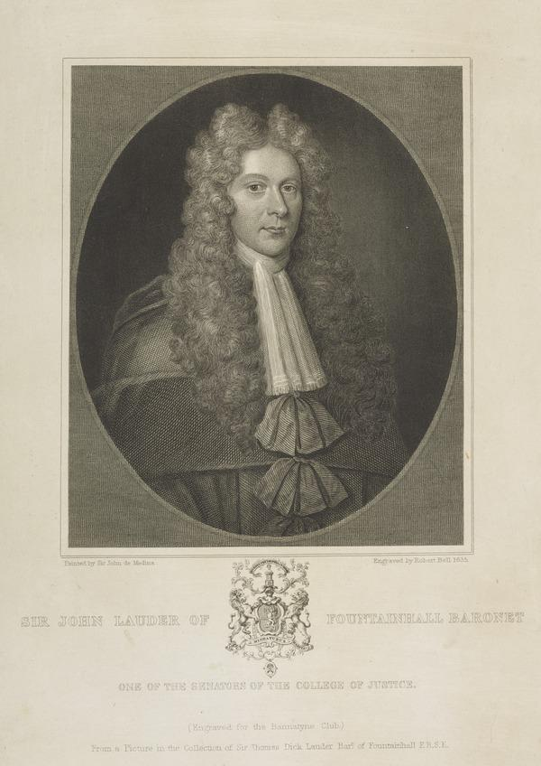 Sir John Lauder of Fountainhall, 1646 - 1722.