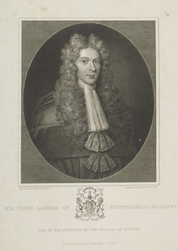 Sir John Lauder of Fountainhall, 1646 - 1722. (1835)