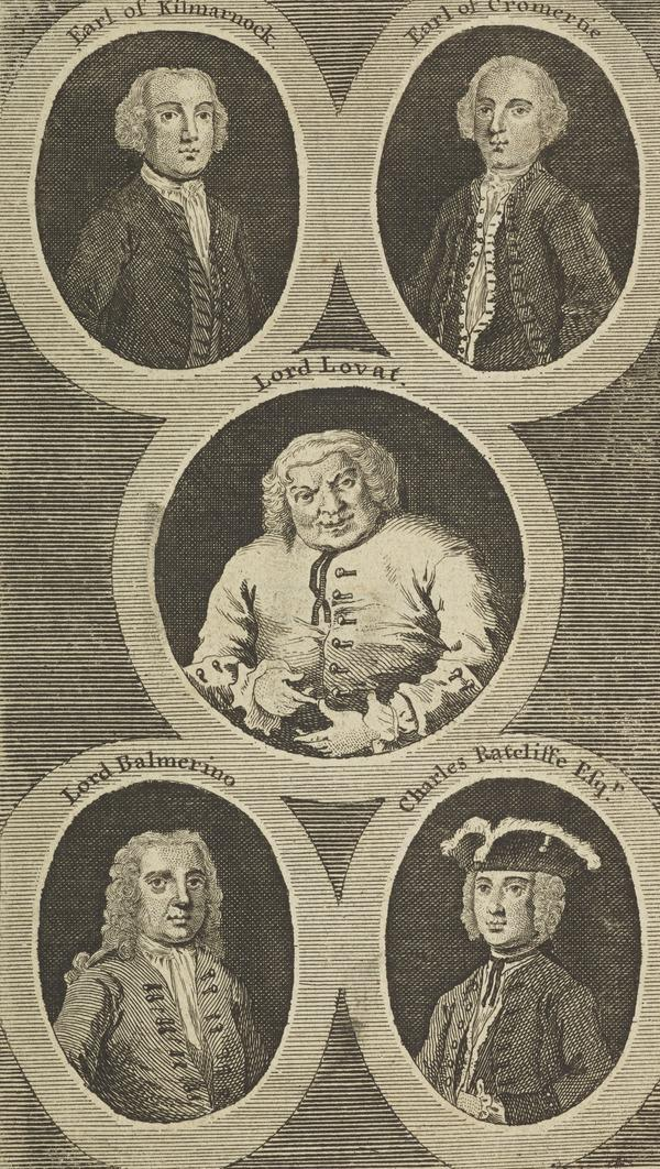 Arthur Elphinstone, Lord Balmerino, 1688 - 1746. Jacobite (with Lord Lovat, Earls of Cromartie and Kilmarnock, Charles Ratcliffe - GROUP ?) (Published 1747)