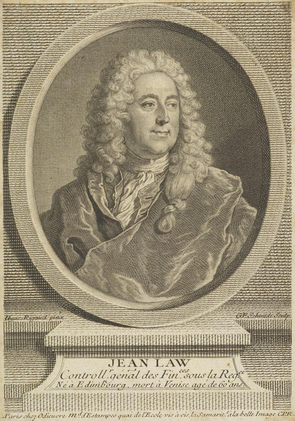 John Law of Lauriston, 1671 - 1729. Financier; projector of the Mississippi Scheme