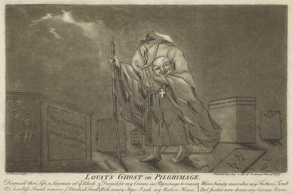 """Simon Fraser, Lord Lovat, c 1667 - 1747. Jacobite. """"Lovat's Ghost on Pilgrimage"""""""