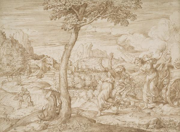 Landscape with Juno and Callisto (About 1540)