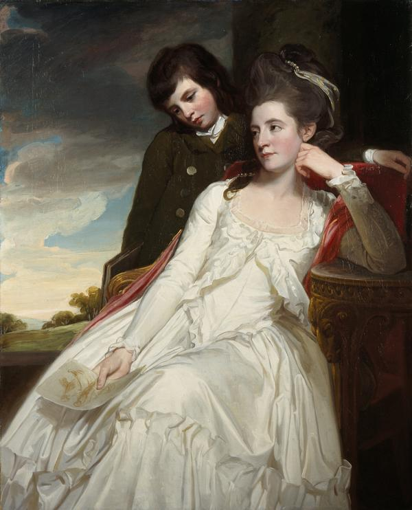 Jane Maxwell, Duchess of Gordon, c 1749 - 1812. Wife of the 4th Duke of Gordon (With her son, George Duncan, 1770 - 1836. Marquess of Huntly,... (1778)