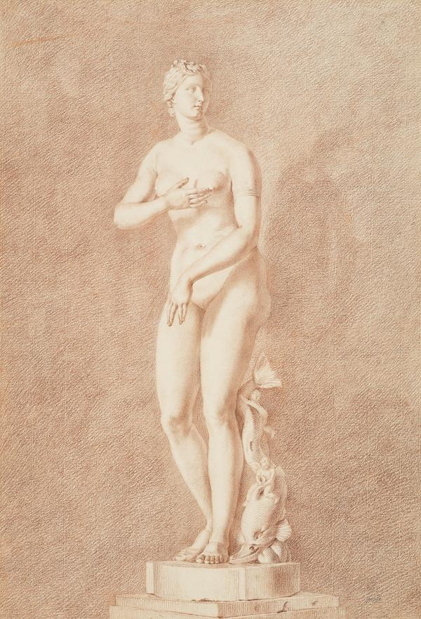 Drawing of a Statue of Venus with a Dolphin (The Medici Venus) (About 1730)