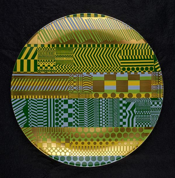 Plate (from the 'Variations on a Geometric Theme' series of 6 plates) (1968 - 1969)
