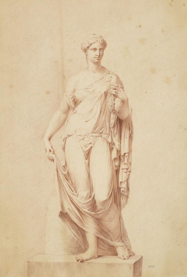 A Statue of a Draped Female Figure