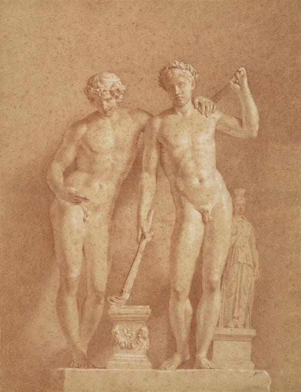 A Statue of Two Male Figures