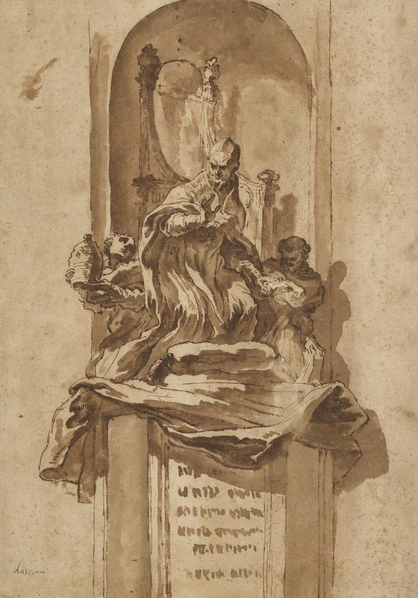 Design for a Papal Tomb Monument (About 1649)