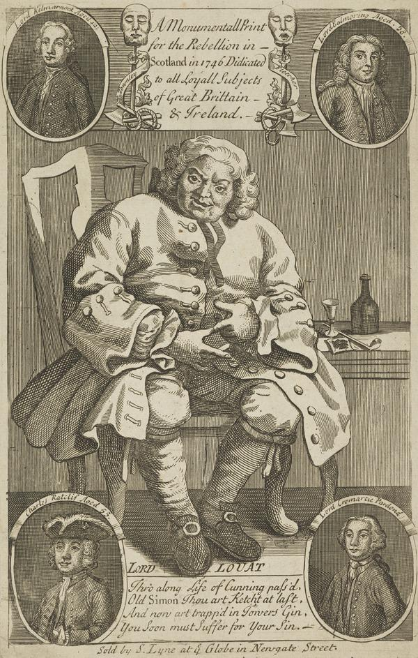Arthur Elphinstone, Lord Balmerino, 1688 - 1746. Jacobite (with Lord Lovat, Earls of Cromartie and Kilmarnock, Charles Ratcliffe - GROUP ?)