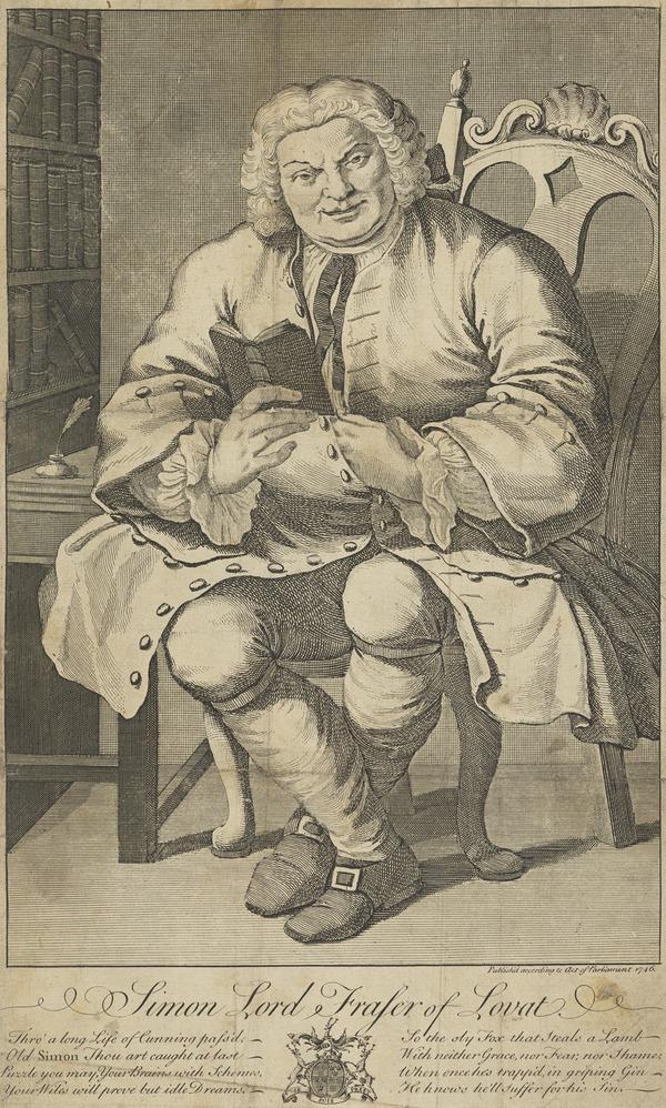 Simon Fraser, Lord Lovat, c 1667 - 1747. Jacobite (Published 1746)