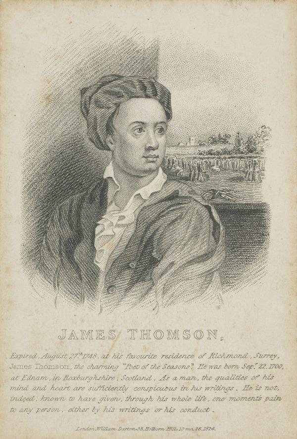 James Thomson, 1700 - 1748. Poet (Published 1824)