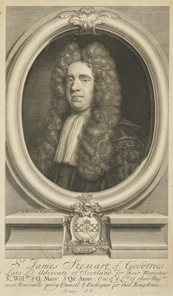 Sir James Steuart of Goodtrees, 1635 - 1713. Lord Advocate (Published 1715)