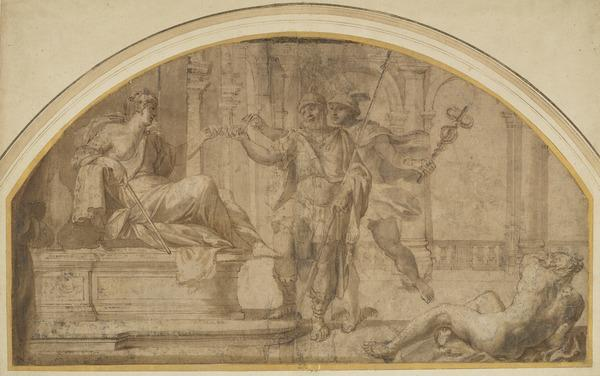 Ulysses and Mercury in Circe's Palace