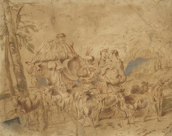 Music-Making Goatherds (About 1650 - 1660)