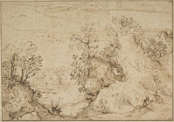 River Landscape with a 'Rest on the Flight to Egypt'